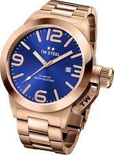 Tw Steel CB181 Hombre Oro Rosado 45MM Canteen Reloj - 2 Años de Garantía