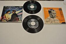 nat king cole lot of 2 EP's 1950's cap. c238