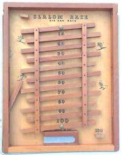 Vintage Slalom Race Zig Zag Wooden Table Top Ski Game Drueke No. 2060 Very Rare!