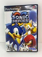 Sonic Heroes PS2 COMPLETE Case Manual hero heros hedgehog cib 2003 PlayStation 2