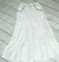 BISOU BISOU Michele Bohbot BOHO Long w/ Mini Skirt Flare MAXI Tiered Pockets