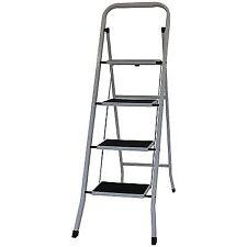 Oypla Foldable 4 Step Ladder Stepladder Non Slip Tread Safety Steel