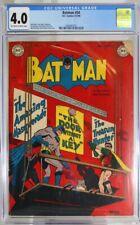 BATMAN # 54 - CGC 4.0 - DC - 1949 - BOB KANE - CHARLES PARIS - WIN MORTIMER