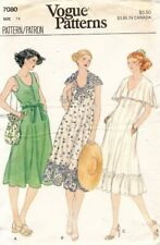 1970's VTG VOGUE Misses' Dress Pattern 7080 Size 14 UNCUT