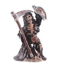 "Blue Sky Clayworks Grim Reaper w/ Clock Tealight Candle Holder 10.25"" H"