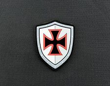 Knights Templar Shield 3D PVC IR Morale Patch Who Shot First Assassins Creed