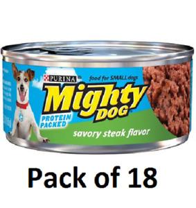 (18) Mighty Dog Savory Steak Flavor Purina Mighty Dog Savory Steak Flavor Dog Fo