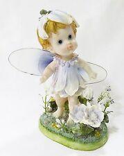 Flower baby figurine fairy statue resin