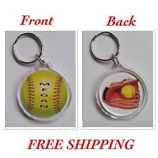 Softball Personalized Keychain