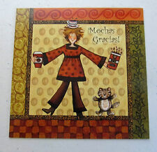 Leanin Tree Thank You Greeting Card Coffee Multi Color Qubes Series Q2