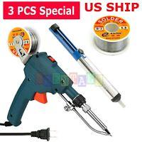 Auto Electric Soldering Iron Gun With FLUX 2% Solder Wire Tin wire 50g 60W