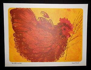 "Vintage Current THE LITTLE RED HEN Art Print 11"" x 14.5"" Linda Powell Children's"