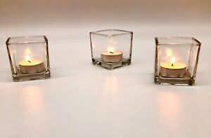 BULK 30 Piece Set Square Vases Wedding Glass Table Centerpiece Candle holders