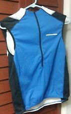 Cannondale Pack Me Vest blue Bicycling Biking Zip Up Vest. This is  ( S ) USA.