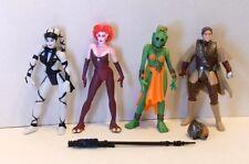 Star Wars ROTJ POTF2 JABBA'S DANCERS and BOUSHH LEIA Complete Figure Lot!
