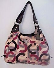 Coach Madison Chainlink Maggie Purse Handbag Satchel Hobo Scarf Print 14420