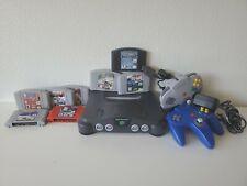 Nintendo 64 Console + 8 Games + Mario Kart + NBA Jam + 2 controller