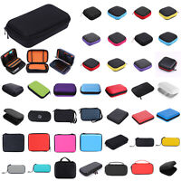 Portable Case Box Headphone Earbud Pouch Carrying Card Bag Earphone Zip Storage