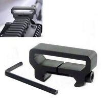 Rifle Gun Sling Mount Plate Adapter Aluminum Picatinny Weaver Rail Base Black
