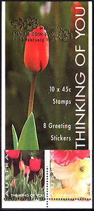 1994 Thinking of You booklet. Tulips, Poppies. MELBOURNE overprint  • FREE POST