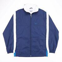 Vintage NIKE Blue Zip Up Mesh Lined Lightweight Track Jacket Mens Size Medium