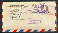 VENEZUELA 0166 OFICIAL official 1949 Ministry National Education AIR to Germany