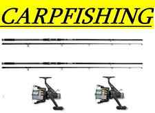 OFFERTA STOCK 2 CANNE 2 MULINELLI CARP FISHING DA PESCA P9601