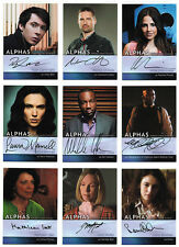 Alphas Season One Ultimate Master Set with 9 Autograph & 13 Costume Cards