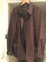 Jaeger Men's Dark Brown Overcoat Coat Mac Trench Coat Lightweight XL