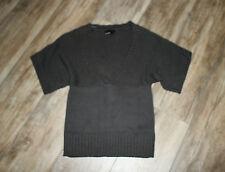 Vero Moda Strickshirt kurzarm Pullover anthrazit Gr. S 36 38 weite Ärmel   #S17