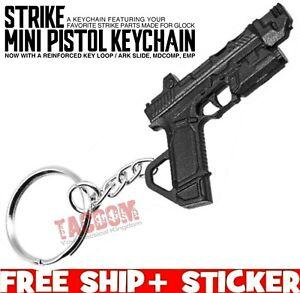 Strike Industries Mini Pistol Keychain Black Plastic Glock S80 P80 SI Key Chain