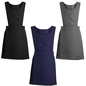 School Uniform Bib Pinafore Pleated Girls Back to School UK Uniform Dress 2-16