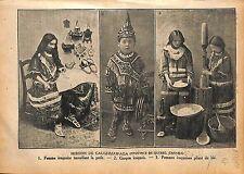 Mission Caughmawaga Province de Québec Canada Iroquois Artisan 1920 ILLUSTRATION