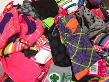 Lot Of 15 Girls Knee-high Socks Assorted Colors-Design-Shoe Size 9-11