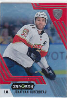 20/21 SYNERGY..JONATHAN HUBERDEAU..RED ACETATE..UNSCRATCHED..# 52..PANTHERS