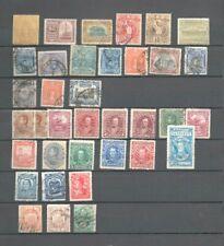36 anciens timbres Amerique du Sud: Perou Guatemala Venezuela etc ...