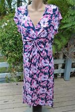 Target Knot Bodice Peak Hem Dress Size 14. Pink/white/blue