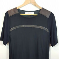 ZARA  | Womens Leather Trim Dress [ Size M or AU 12 / US 8 ]