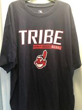 "Cleveland Indians ""Tribe Baseball� Chief Wahoo Navy Blue Adult 4Xl T-Shirt"