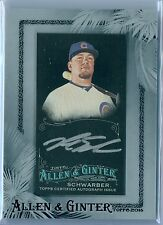 KYLE SCHWARBER 2016 ALLEN & GINTER X SILVER FRAMED MINI RC AUTO AUTOGRAPH SP