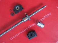 1 antibacklash ball screw 1605 -L300mm-C7+BK/BF12 + 1pc 6.35mm*10mm couplings
