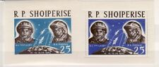 ALBANIA Sc 657 NH PERF & IMPERF SOUVENIR SHEETS OF 1963 - SPACE