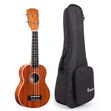 Soprano Ukulele 21 Hawaii Guitar 4 String Music InstrumentLaminated Mahogany Bag
