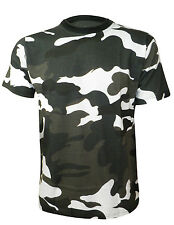 MENS CAMOUFLAGE GREEN/NAVY/DESERT/B&W PRINT CASUAL TOP COSTUME T-SHIRT S - 5XL