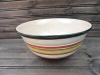"""Jentry by Tabletops Unlimited 10"""" Round Vegetable Bowl Various Color Lines p22"""