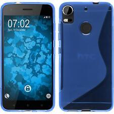 Funda de silicona HTC Desire 10 Pro S-Style - azul + protector de pantalla
