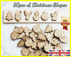 50 Christmas Wooden Shapes Craft Scrapbooking MDF Cut Wood Gift Card making