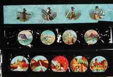 Lot 3 plaques verre pour lanterne magique photo fin XIX° personnages & Venise