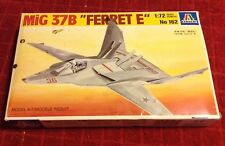 Vintage Italeri MIG 37B FERRET E Military Model Airplane Jet Aircraft Kit #162