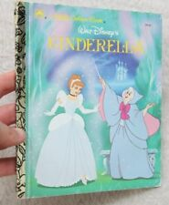 A Little Golden Book Walt Disney's Cinderella 1986 Childrens Fairy Tale Princess